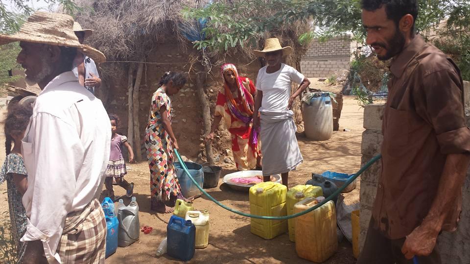 """مجتمع """"محل طعام"""" بالقناوص  يتسلم  شبكة توزيع المياه"""