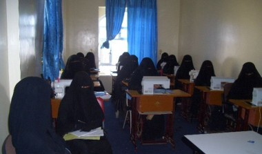 Training facilitators and students of adult literacy on sewing and economic life skills- Al-Dalei