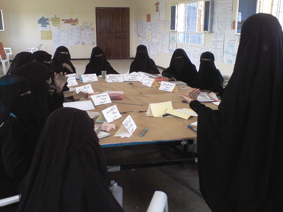 Introduction to rules of classroom illiteracy is held in Aden